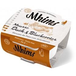 Mhims Mousse para Gato - Pato con Arandanos 70 g
