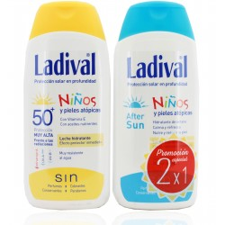 Ladival Duplo Fotoprotettore SPF50 Bambini 200 ml + Aftersun Bambini 200 ml