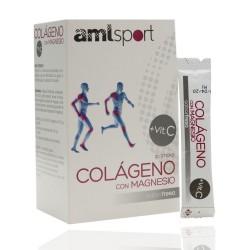 Amlsport Kollagen mit Magnesium + Vitamin C 20 Sticks Erdbeere