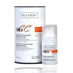 Bella Aurora Anti-Spot Crema Colore SPF50 + pelle sensibile 30 ml