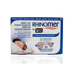 Rhinomer Breathe Right grandes tiras nasais 10 unidades