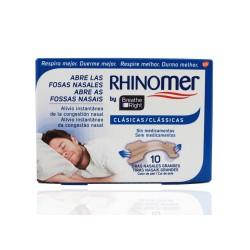 Rhinomer Breathe Right Nasal Strips 10 unità di grandi dimensioni