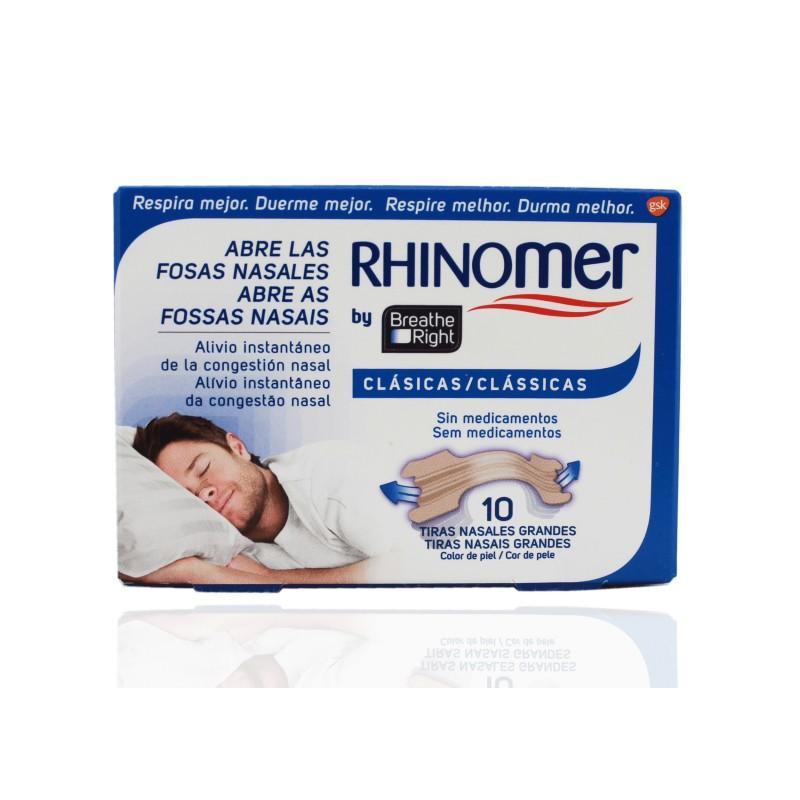Rhinomer Breathe Right Tiras Nasales Grandes 10 Unidades