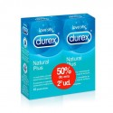 Durex duplo preservativos natural plus 2x12 unid