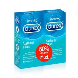 Durex Natural Plus Duplo Preservatives 2x12 Units