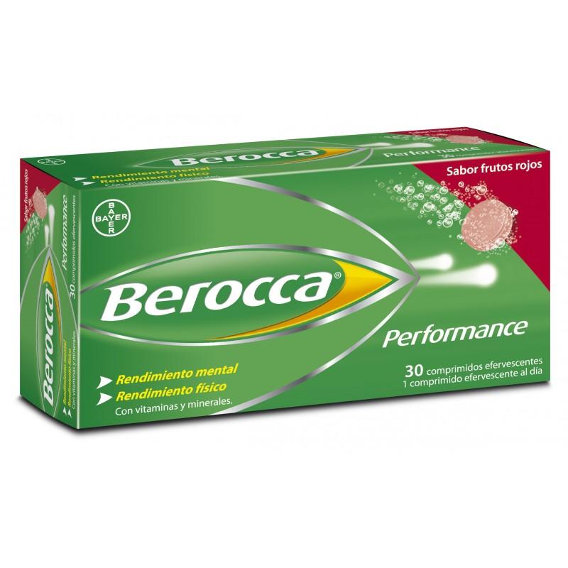 BEROCCA PERFORMANCE 30 COMP EFERVESC. FRUTOS ROJ